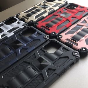 For iPhone 12 Pro Max armor phone case with ki…